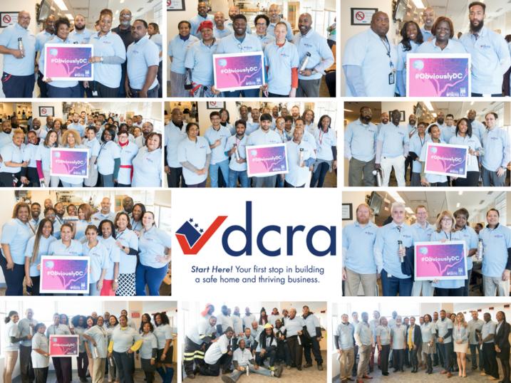 DCRA Staff Wearing New Logo