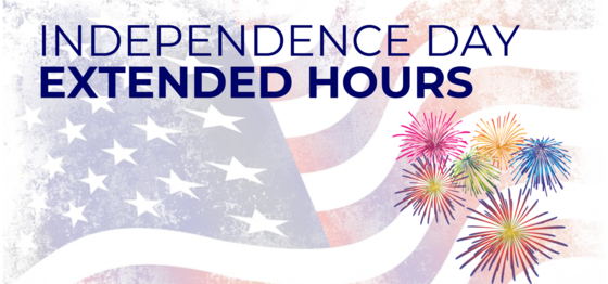 Independence Day extended hours
