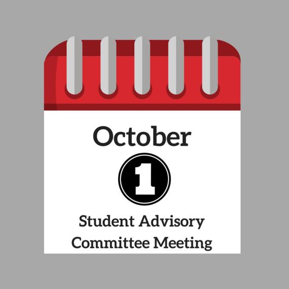 October 1 Student Advisory Committee