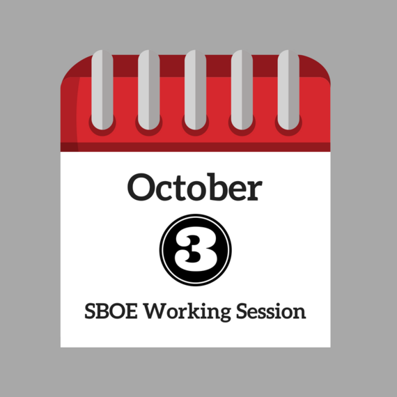 October 3 Working Session
