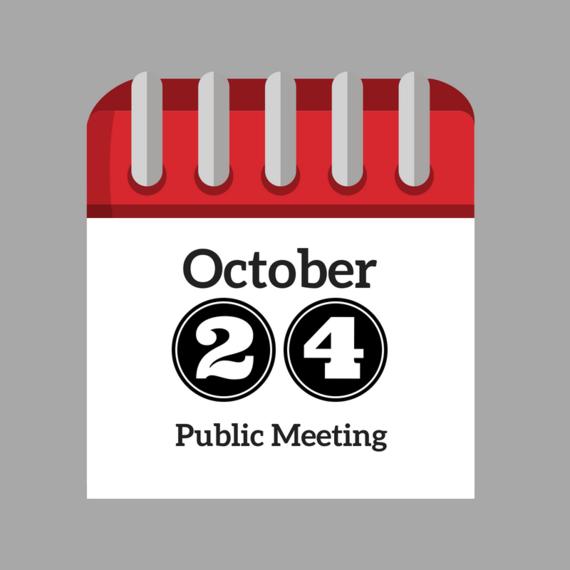 October 24 Public Meeting