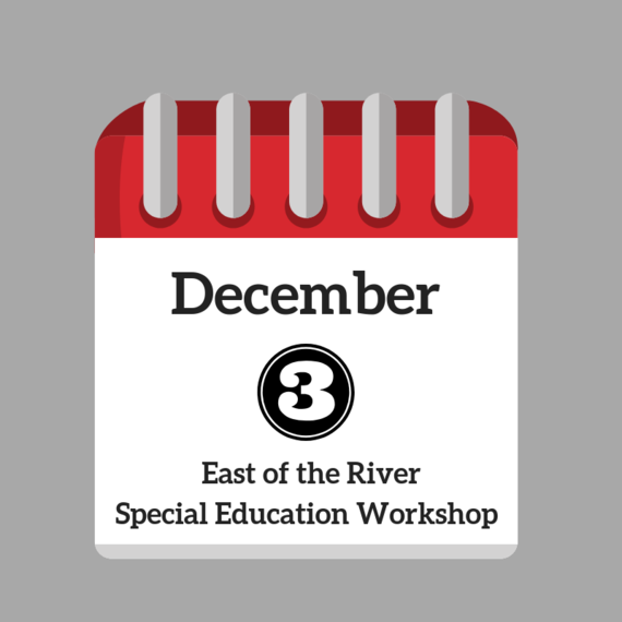 December 3 Special Education Workshop