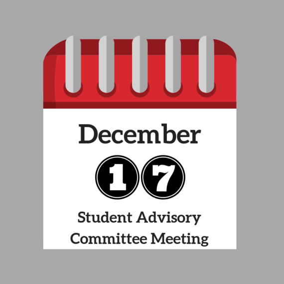 December Student Advisory Committee Meeting