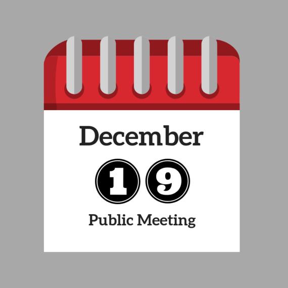 December Public Meeting