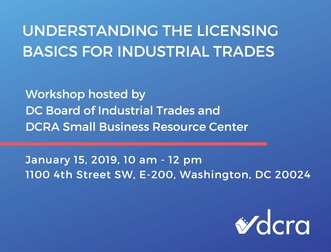 Understanding the Licensing Basics for Industrial Trades Workshop Graphic