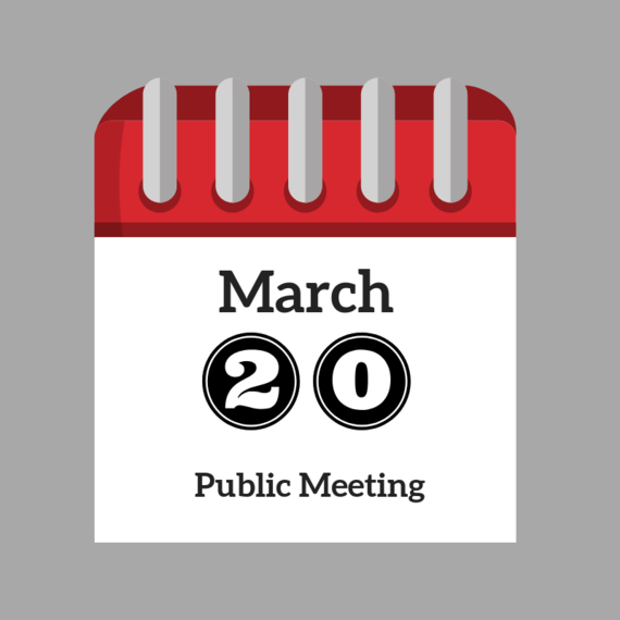 March 20 Public Meeting