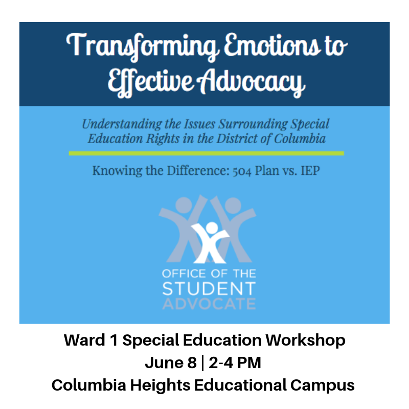 Ward 1 Special Education Workshop
