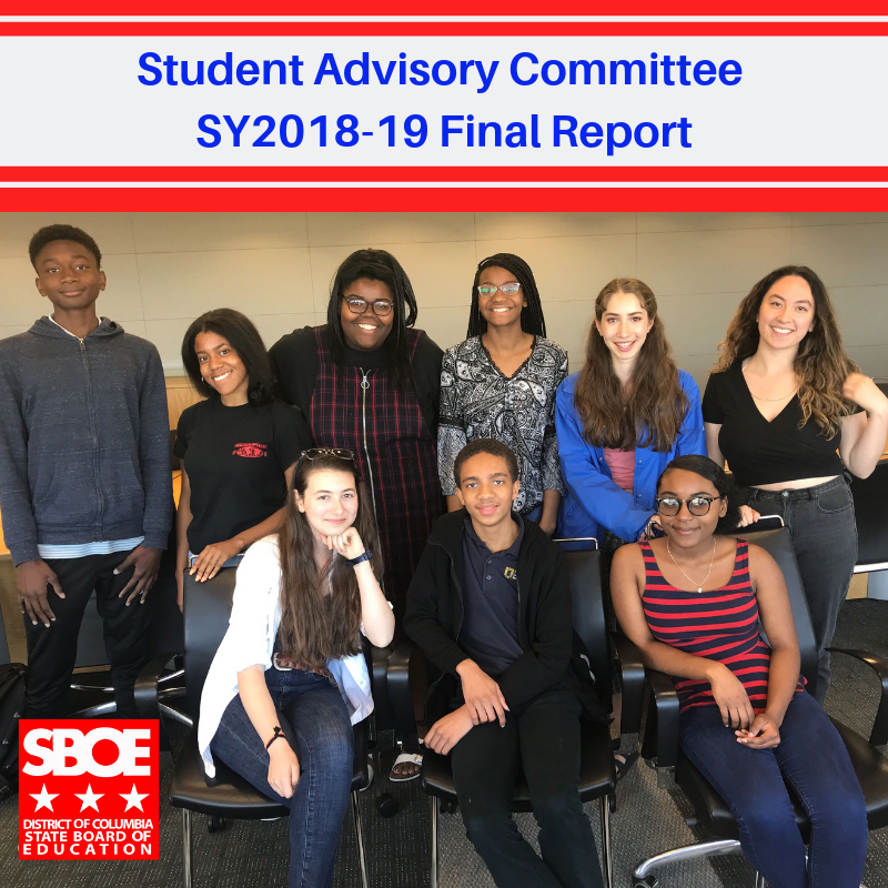 Student Advisory Committee SY2018-19 Final Report