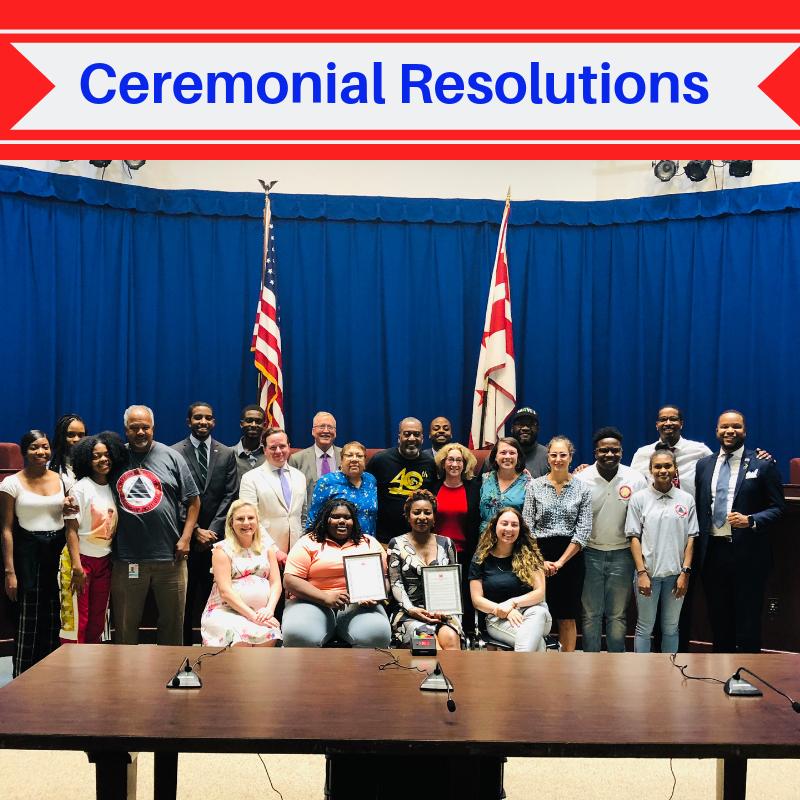 June 2019 Ceremonial Resolutions