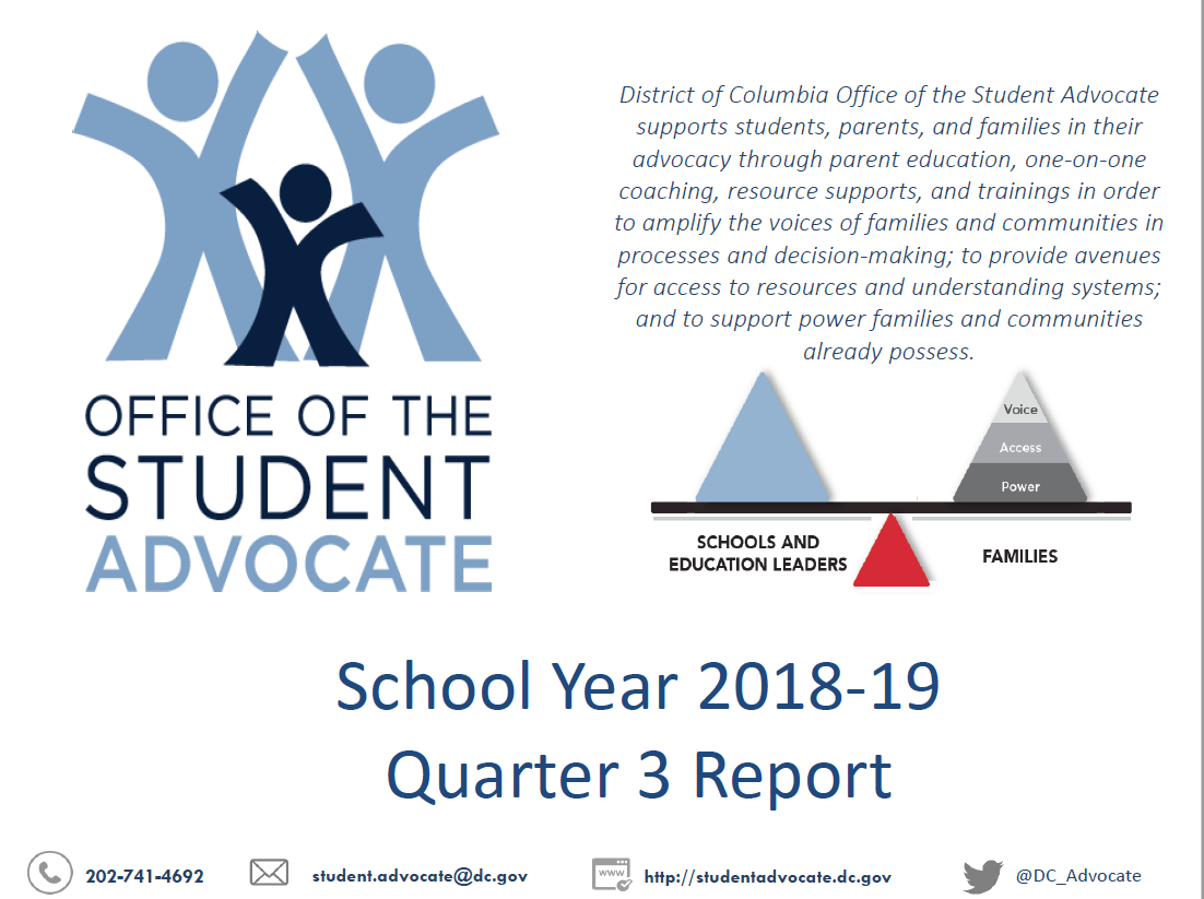 Office of the Student Advocate SY18-19 Q3 Report