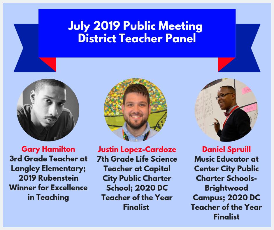 July Teacher Panel