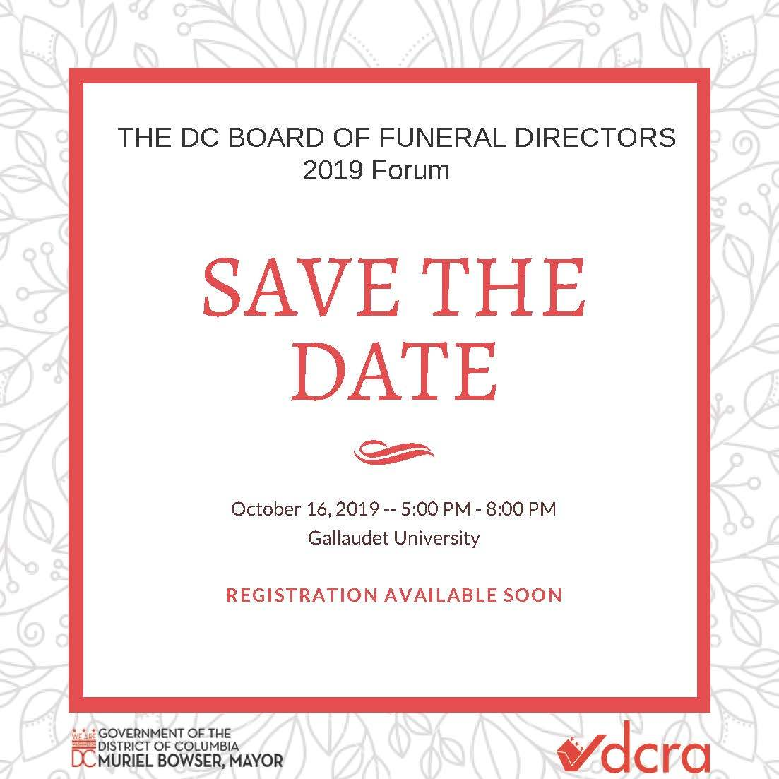 forum save the date
