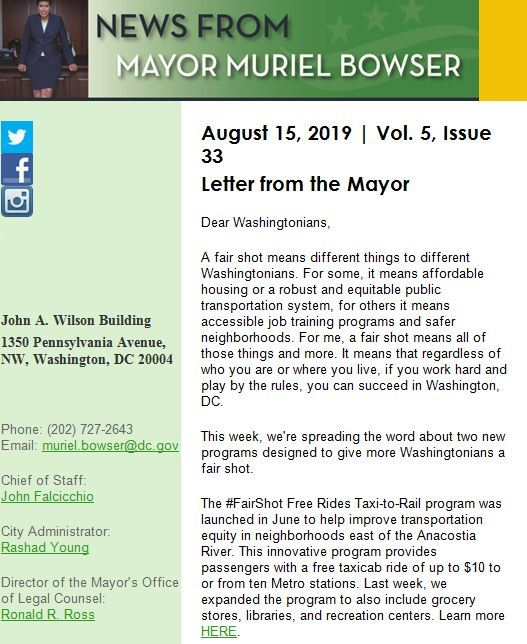 LETTER FORM THE MAYOR
