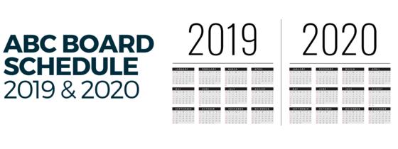 ABC Board Schedule 2019/2020