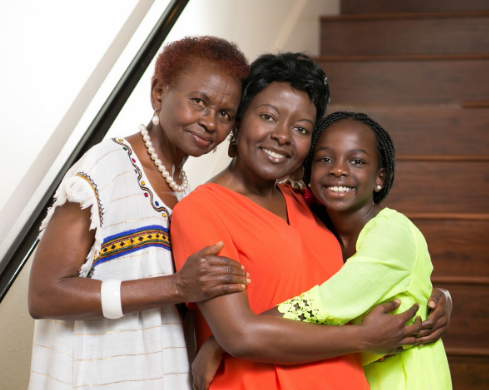 African multigenerational women
