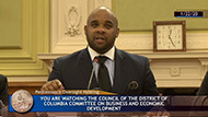 DCPSC Chairman Willie L. Phillips presents at D.C. Council testimony
