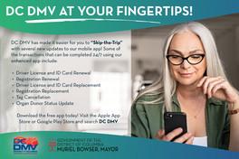 DMV Mobile App Senior Female