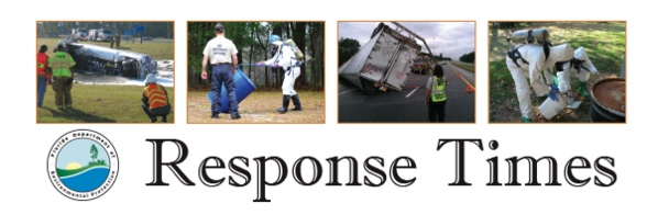 Office of Emergency Response - Response Times Newsletter header