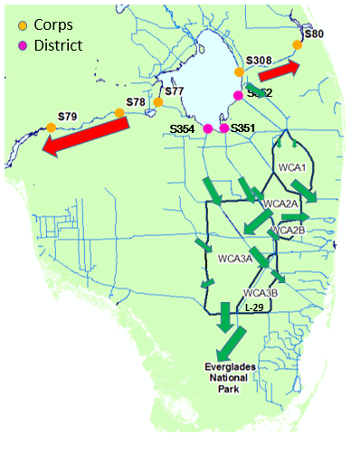 Deps Daily Update On Lake Okeechobee - Us-army-corps-of-engineers-district-map
