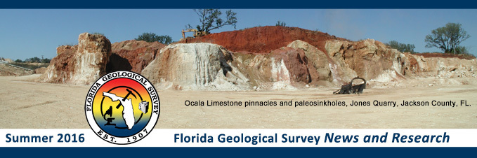 Florida Geological Survey header for Summer 2016
