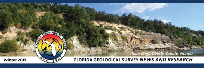 Florida Geological Survey Winter 2017 Newsletter Banner
