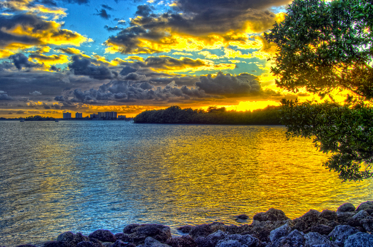 Sunset at Oleta River State Park