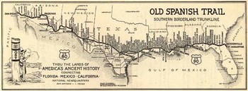 Historic Old Spanish Trail Highway route courtesy of OST100