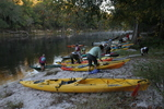 Paddle Florida group launching from Suwannee Springs State Park, by Doug Alderson