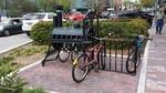 Bike rack in downtown Dunedin by Brian Ruscher, OGT