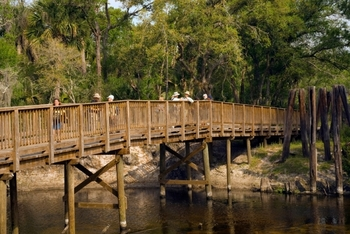 Footbridge over Econ River by M. Timothy O'keefe