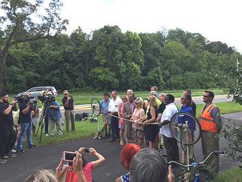 ribbon cutting celebrating gap closure on Pinellas Trail and Coast to Coast Trail by Christine Small
