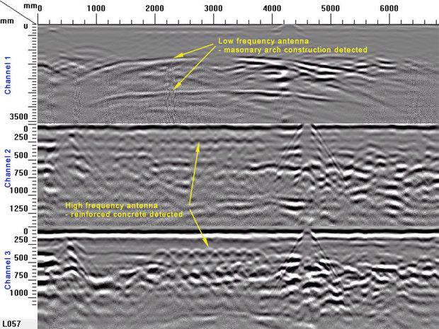 ground penetrating radar screen