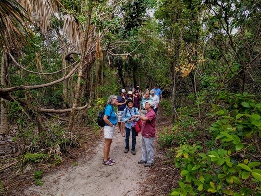 Hikers at John D. MacArthur Beach State