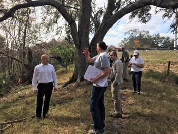 DEP Secretary Noah Valenstein visits Shingle Creek property