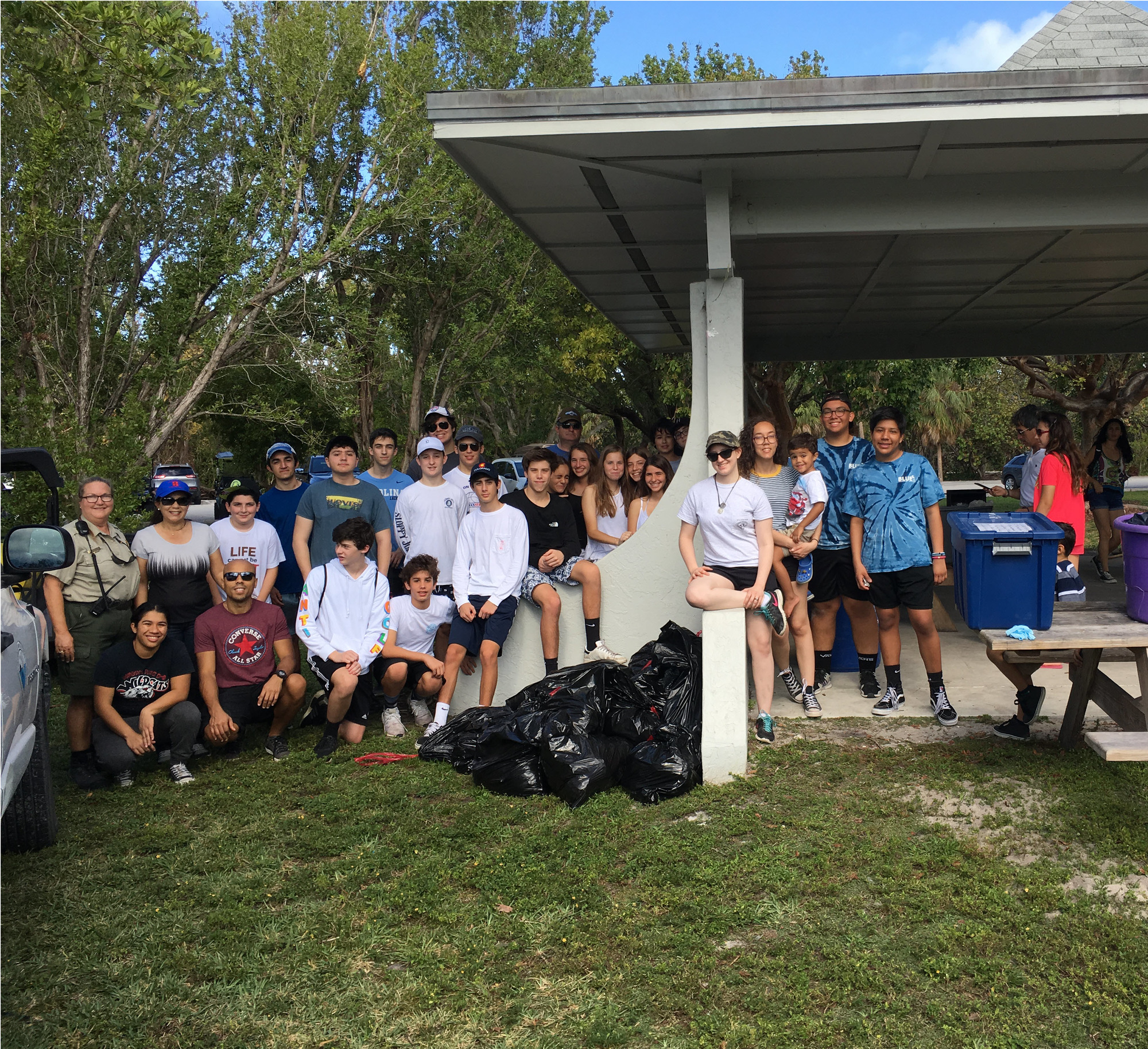 A group shot of Volunteers at Bill Baggs Cape Florida State Park