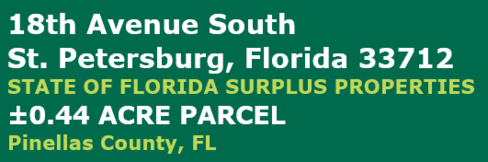 State of Florida Surplus Property for Sale located on 18th Avenue South in Saint Petersburg Florida.