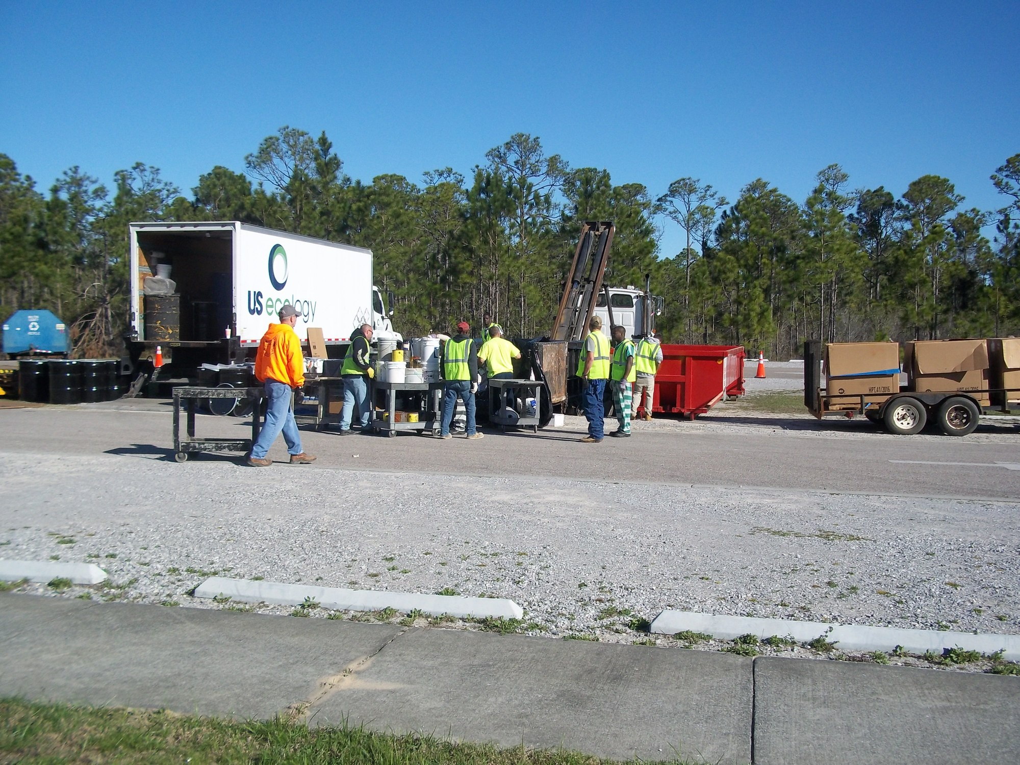 Hazardous Materials and Waste tires collected at Topsail Hill Preserve