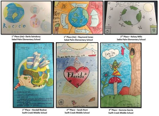 DEP Announces Leon County Earth Day Poster Contest Winners