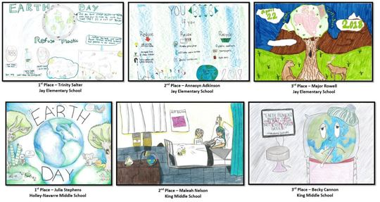 DEP Announces Santa Rosa County Earth Day Poster Contest Winners