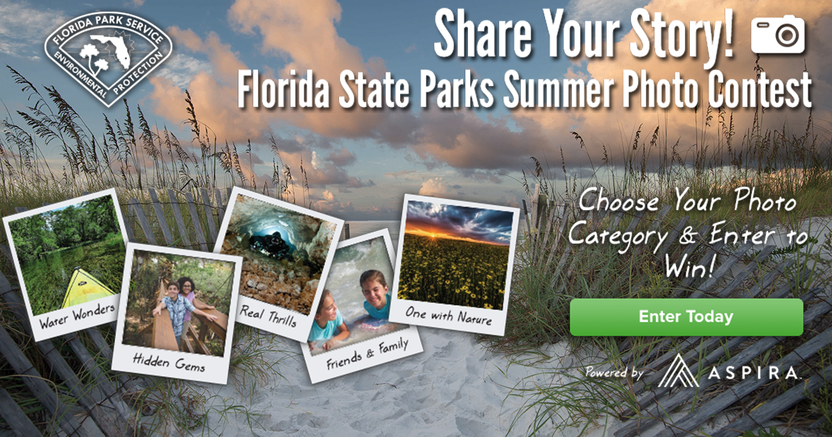 Share your story in the Florida State Parks summer photo contest! Choose your photo category and enter to win.