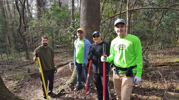Tallahassee Mountain Bike Association volunteers doing trail work by Eric Draper