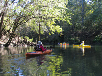 Chipola River paddlers by Doug Alderson