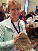 Jill Lingard with outstanding trail leader for Florida award