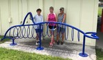 dolphin bike rack at McLeod Park courtesy of Patty Huff