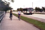 bikes along busway in Miami courtesy of East Coast Greenway Alliance