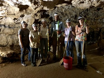 Some of the people who volunteered to clean up the cave, by Brandy Smith