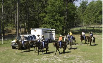 Horseback riders on the Cross Florida Greenway by John Moran