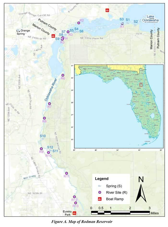Figure A. Map of Rodman Reservoir