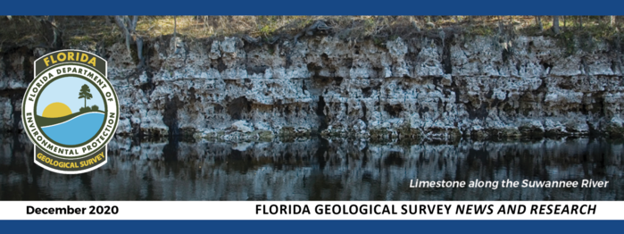 Florida Geological Survey News and Research December 2020 header