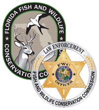 FWC logo and law enforcement badge
